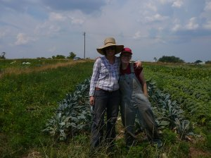 Kim and Audra in the field